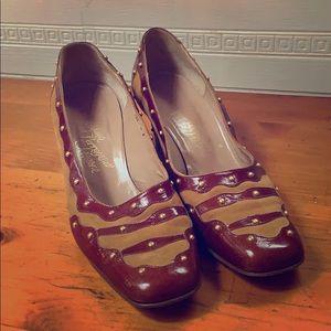 🍁Ferragamo Vintage Block Heels